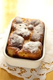 Pumpkin brioche sprinkled powdered sugar Stock Images