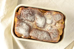 Pumpkin brioche sprinkled powdered sugar Stock Photo