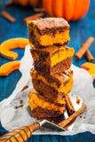 Pumpkin brownies Stock Photo