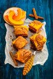 Pumpkin brownies Stock Photography