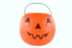 Pumpkin bucket alpha Royalty Free Stock Photo