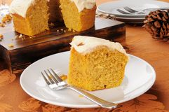 Pumpkin bundt cake Royalty Free Stock Photography