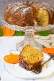 Pumpkin bundt cake Royalty Free Stock Images