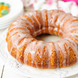Pumpkin Bundt Cake with Sugar Icing Stock Photography