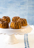 Pumpkin bundt cakes with chocolate Stock Photos