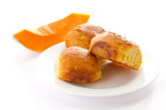 Pumpkin buns Stock Images