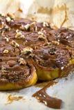 Pumpkin buns with salted caramel closeup. Stock Photography