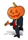 Pumpkin businessman Royalty Free Stock Photos