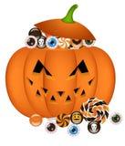 Pumpkin busket Stock Images