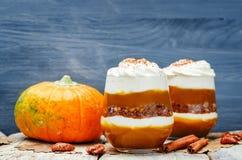 Pumpkin butter Greek yogurt parfait Stock Photography