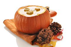 Pumpkin or Butternut Squash Soup Stock Photos