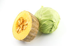 Pumpkin cabbage Royalty Free Stock Photos