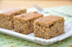 Pumpkin Cake. Homemade Pumpkin Almond Cake on a plate Stock Image