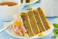Pumpkin cake Royalty Free Stock Image