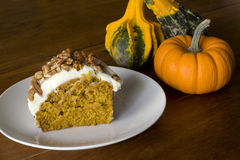 Pumpkin Cake Creamcheese Frosting Stock Images