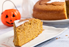 Pumpkin cake for halloween Stock Photos