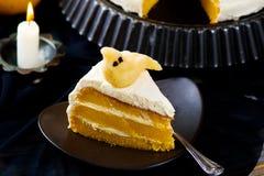 Pumpkin cake for Halloween Royalty Free Stock Image