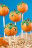 Pumpkin cake pops Royalty Free Stock Image