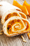 Pumpkin Cake Roll Stock Photos