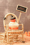 Pumpkin Cake With Sign Stock Image