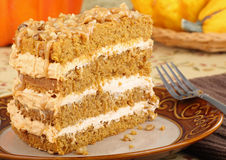 Pumpkin Cake Slice Stock Photo