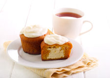 Pumpkin cakes with cheese filling Royalty Free Stock Photo