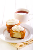 Pumpkin cakes with cheese filling Stock Images