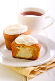 Pumpkin cakes with cheese filling Stock Photography