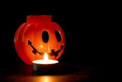 Pumpkin in Candle Light Royalty Free Stock Photos