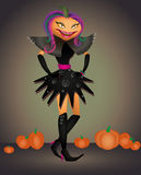 Pumpkin in a carnival costume Royalty Free Stock Photos