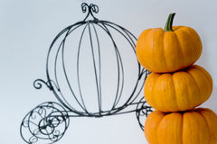 Pumpkin carriage. Drawing of cinderella's pumpkin carriage Stock Photo