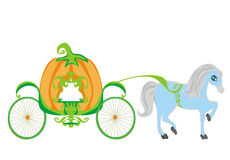 Pumpkin carriage. Insulated pumpkin carriage,  illustration Stock Image