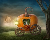 Pumpkin carriage royalty free stock image