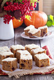 Pumpkin and carrot cake with cream cheese Royalty Free Stock Photo