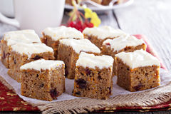 Pumpkin and carrot cake with cream cheese Royalty Free Stock Photos