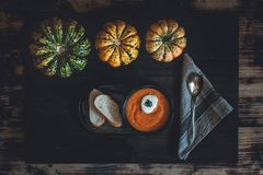 Pumpkin-Carrot Soup royalty free stock image