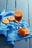 Pumpkin and carrot juice Stock Photos
