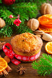 Pumpkin and carrot muffins Royalty Free Stock Photography