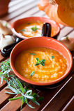 Pumpkin Carrot Soup Healthy Food Stock Photography