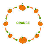 Pumpkin and carrot vector illustraion Stock Images