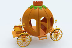 Pumpkin cart Stock Image