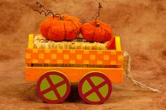 Pumpkin Cart royalty free stock images