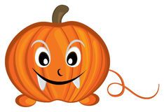 Pumpkin cartoon character Stock Photography