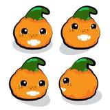 Pumpkin cartoon character Stock Image