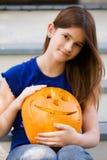 Pumpkin and Carver Stock Photos