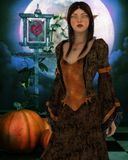 The pumpkin carver Stock Photos