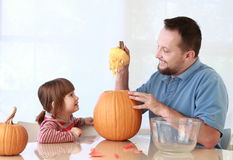 Pumpkin carving Royalty Free Stock Photos