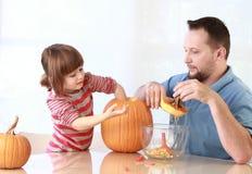 Pumpkin carving stock images