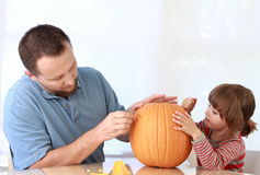 Pumpkin carving Royalty Free Stock Images
