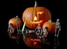 Pumpkin Carving Crew Stock Images